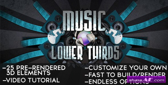 Music Lower Thirds 2192670 - After Effects Project (Videohive