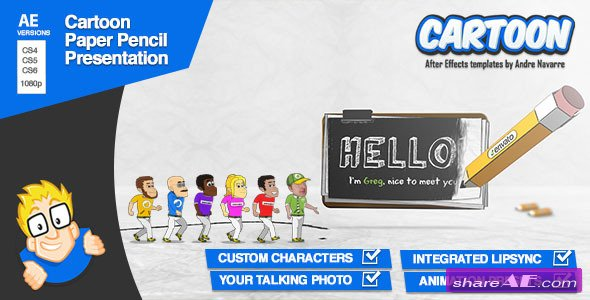 Cartoon Paper Pencil Presentation (New Update Version) - After Effects Project (Videohive)