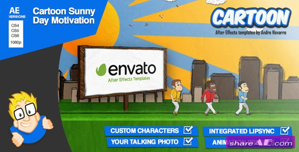 Cartoon Sunny Day Motivation - After Effects Project (Videohive)
