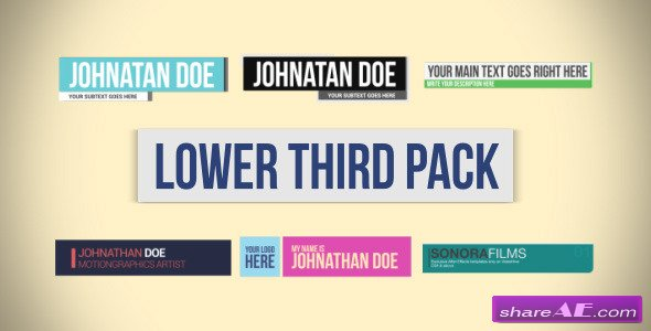 Lower Third Pack 6783381 - After Effects Project (Videohive ...