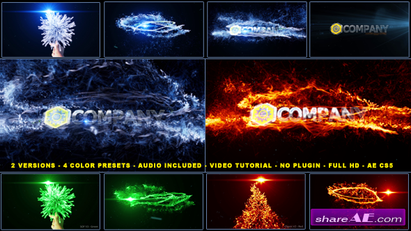 Magical Particles Vortex Logo Reveal - After Effects Project (Videohive)