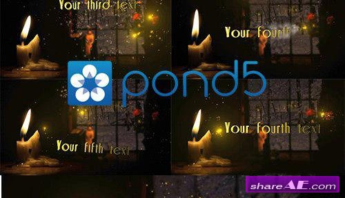 Candle In The Window - For Greetings - After Effects Project (Pond5)