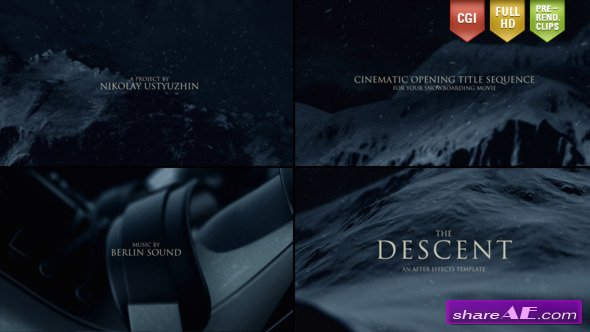 The Descent (Cinematic Titles) - After Effects Project (Videohive)