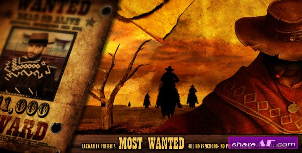 Most Wanted - After Effects Project (Videohive)