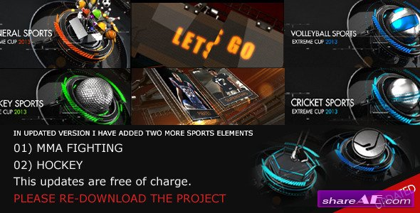 extreme sports pack pro after effects project videohive free