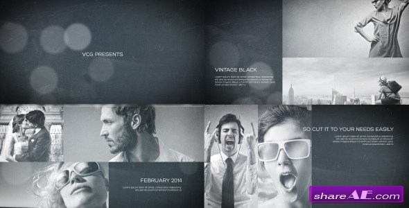Vintage Black - A Photo Slideshow - After Effects Project (Videohive)