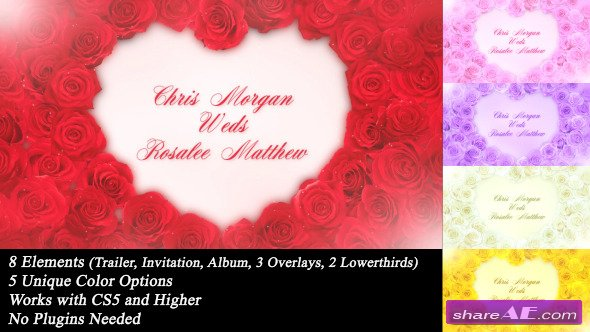 wedding roses videohive free download after effects templates after