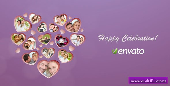 Heart Picture Frames - After Effects Project (Videohive)