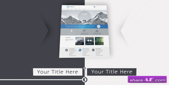 website presentation 2 - after effects project (videohive) » free, Presentation templates