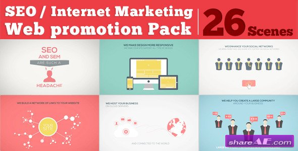 SEO / Internet Marketing / Web Promotion Pack - After Effects Project (Videohive)