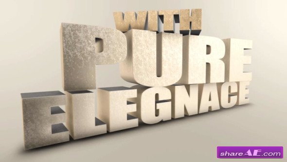 Huge Elegant 3D Titles - After Effects Project (Videohive)
