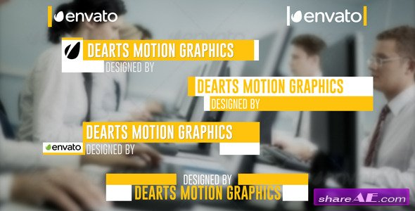 Modern Lower Third 6959504 - After Effects Project (Videohive ...