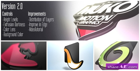 Logo 3D Levels - After Effects Project (Videohive)