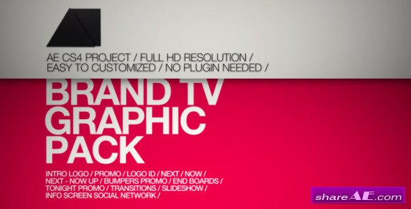 Brand TV Graphic Pack - After Effects Project (Videohive)