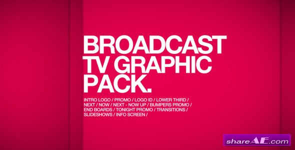 Broadcast TV Graphic Pack - After Effects Project (Videohive)