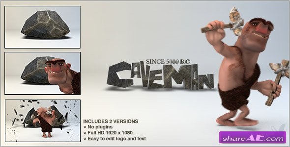 Caveman Logo - After Effects Project (Videohive)