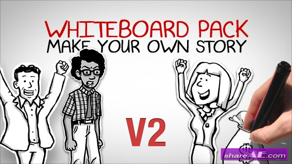 Whiteboard Pack - Make Your Own Story - After Effects Project (Videohive) Version 2