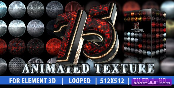 75 Animated Texture (Element 3D) - After Effects Project (Videohive)