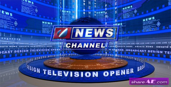 Broadcast Design - Tv News Open - After Effects Project (Videohive)
