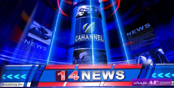 Broadcast Design - Breaking News Open - After Effects Project (Videohive)