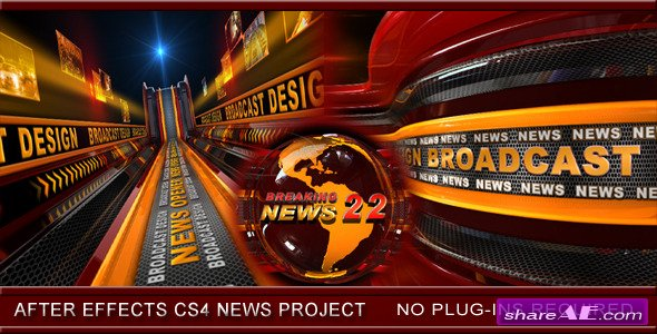 Broadcast Design News Opener 3445978 - After Effects Project (Videohive)