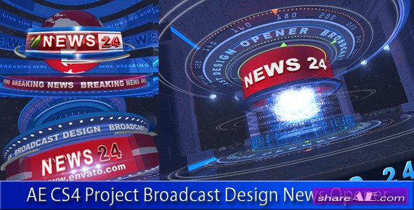 Broadcast Design News Opener 4736670 - After Effects Project (Videohive)