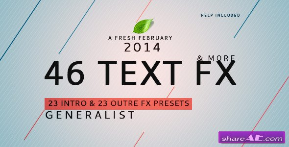 Text Fx Generalist ! - After Effects Presets / Plugins