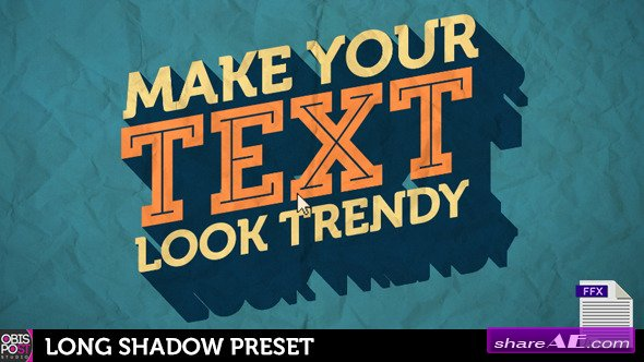 Long Shadow Preset - After Effects Presets (Videohive)