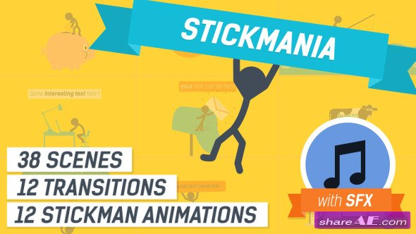 Explainer Video Stickmania - After Effects Project (Videohive)
