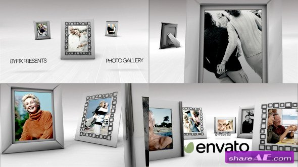 White Photo Gallery - After Effects Project (Videohive)