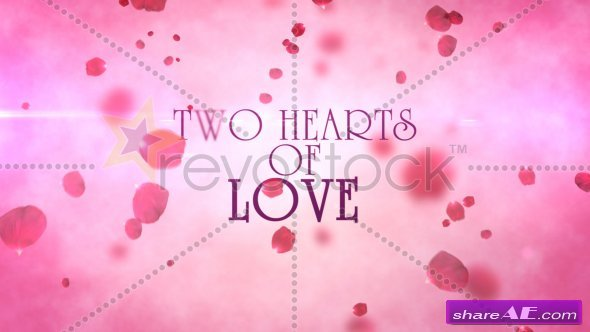 Two Hearts Of Love After Effects Project Revostock Free After