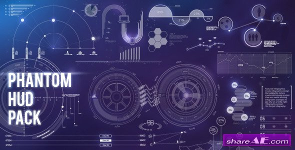 Phantom HUD Infographic - Motion Graphic (Videohive)