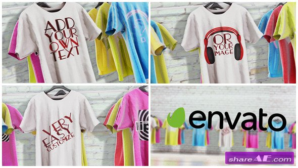 T-Shirts Promo - After Effects Project (Videohive)