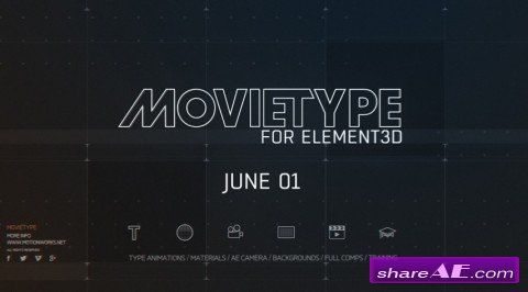 MotionWork - MovieType for Element 3D (Win/Mac)