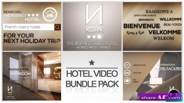 Hotel Video Bundle Pack - After Effects Project (Videohive)