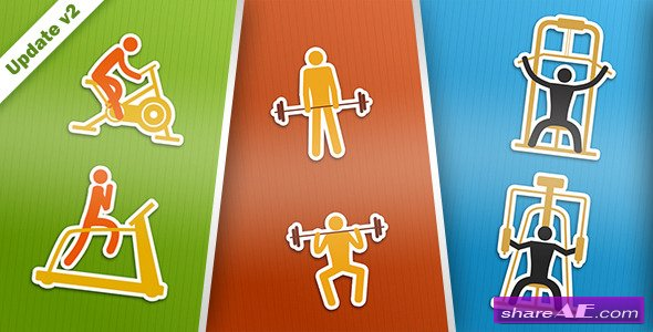 Gym and Fitness - After Effects Project (Videohive)