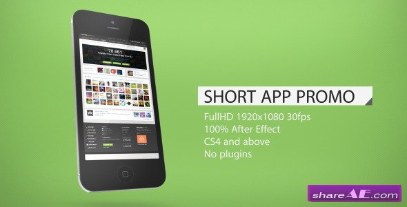 Short App Promo - After Effects Project (Videohive)