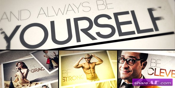 Always BE Yourself - Photo Gallery - After Effects Project (Videohive)