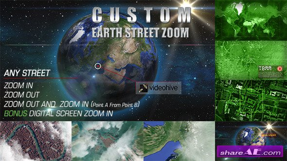 Earth Street Zoom - After Effects Project (Videohive) » free