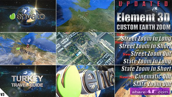 Earth Zoom Pack - After Effects Project (Videohive)