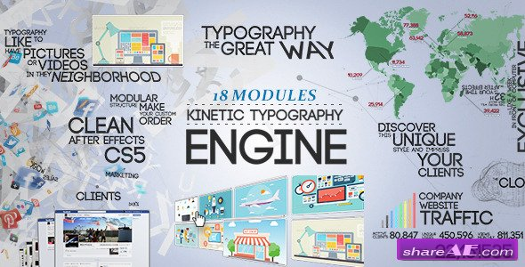 Kinetic Typography Engine - After Effects Project (Videohive)