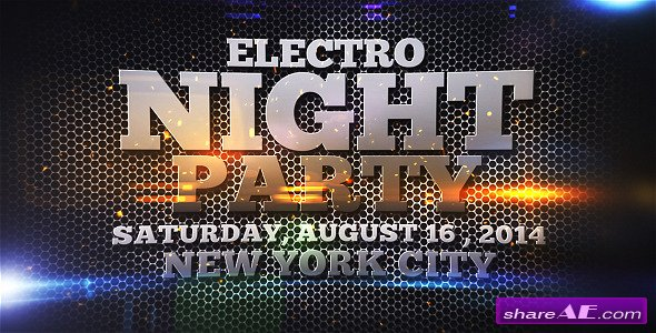 Electro Night Party - After Effects Project (Videohive)
