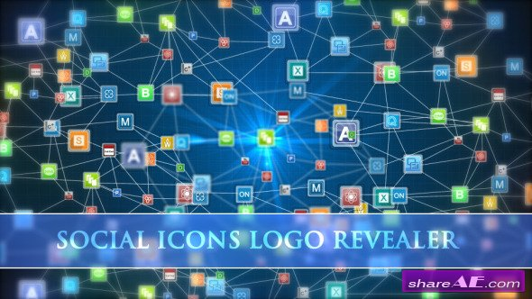 Social Icons Logo Revealer - After Effects Project (Videohive)