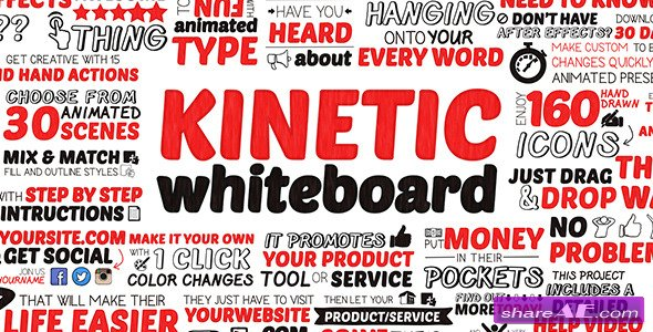 Kinetic Whiteboard Videohive - Free Download After Effects Templates