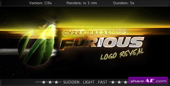 Furious Logo - Fast Powerful Simple Reveal - After Effects Project (Videohive)