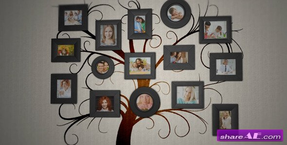Family Tree Photo Album - After Effects Project (Videohive)