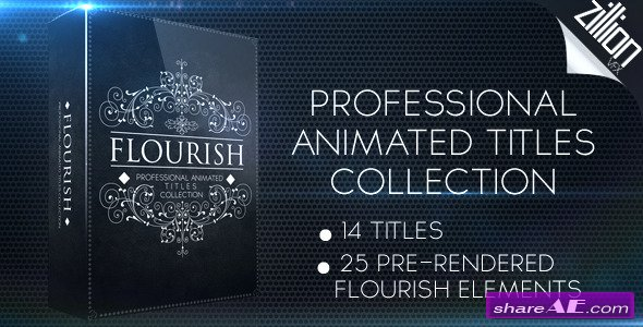 Flourish Titles Collection - After Effects Project (Videohive)