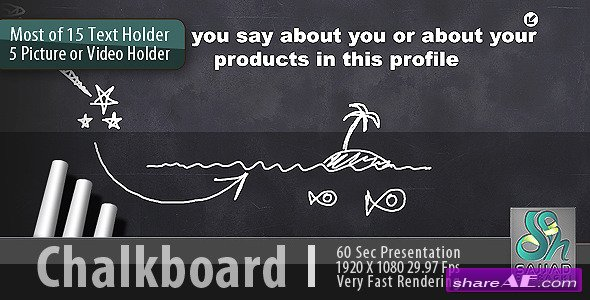 Chalkboard Profile - After Effects Project (Videohive)