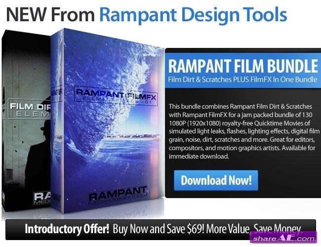Rampant Film Bundle - Film Dirt & Scratches + FilmFX