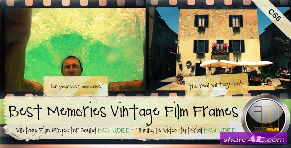 Best Memories Vintage Film Frames - After Effects Project (Videohive)